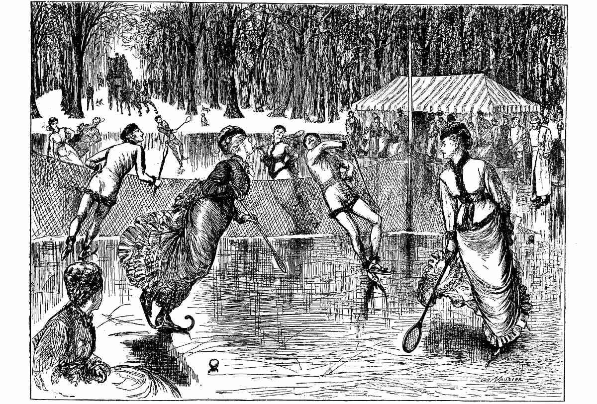 Foto vom frühen Tennisspiel