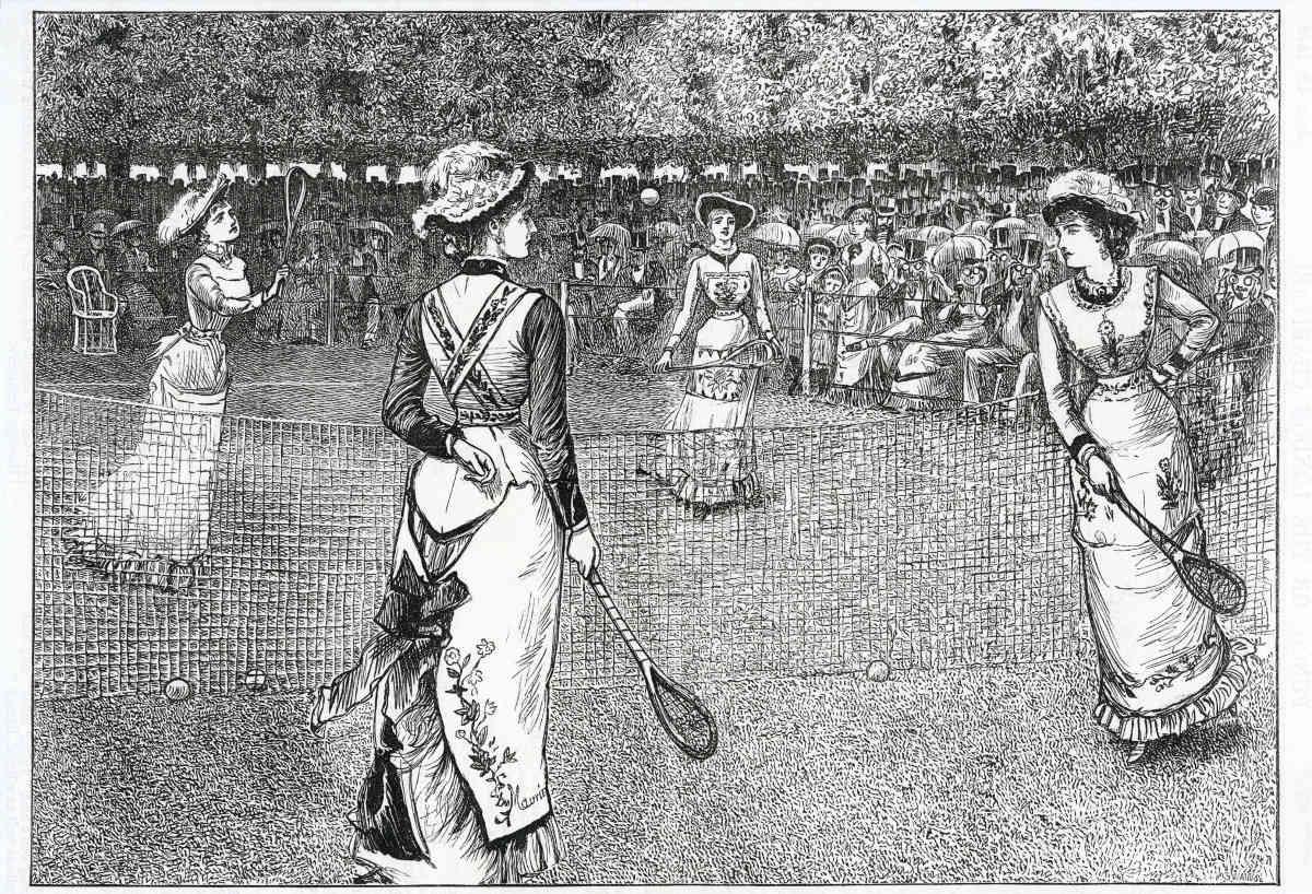 Foto vom Tennis im 19. Jahrhundert