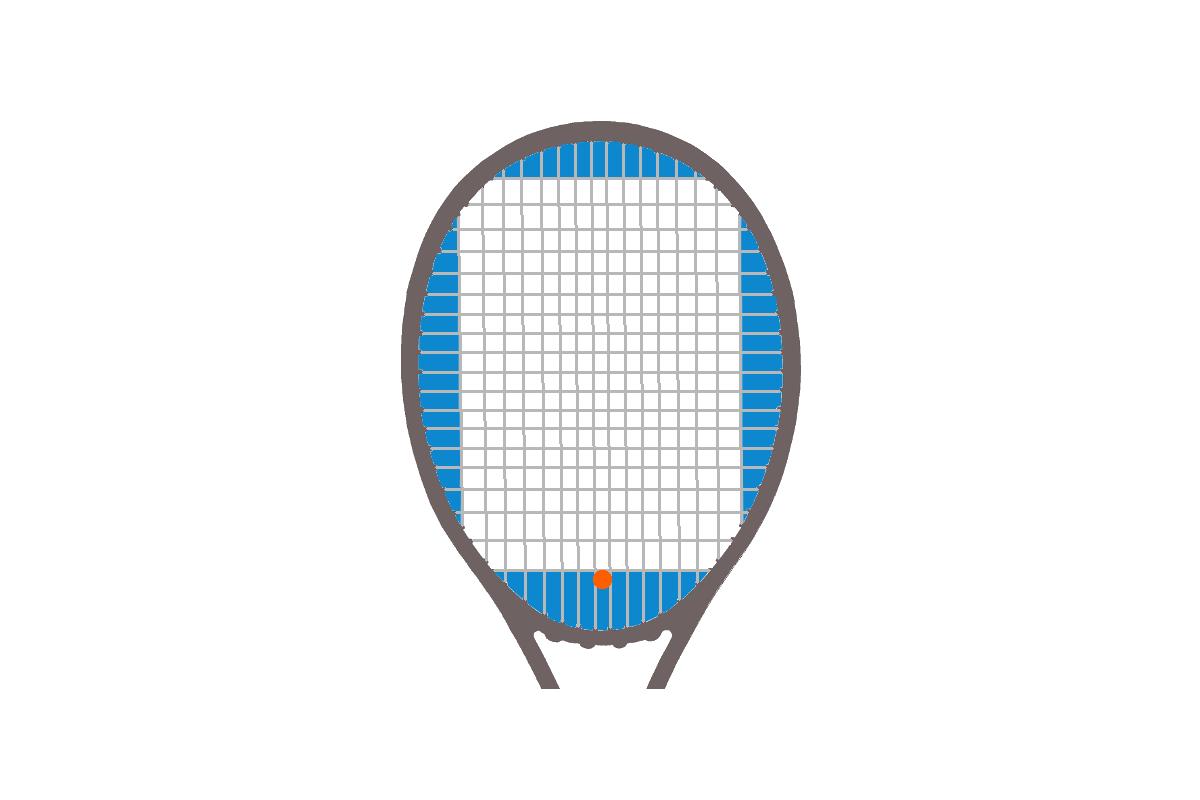 Grafik von einem Dämpfer an einem Tennisschläger