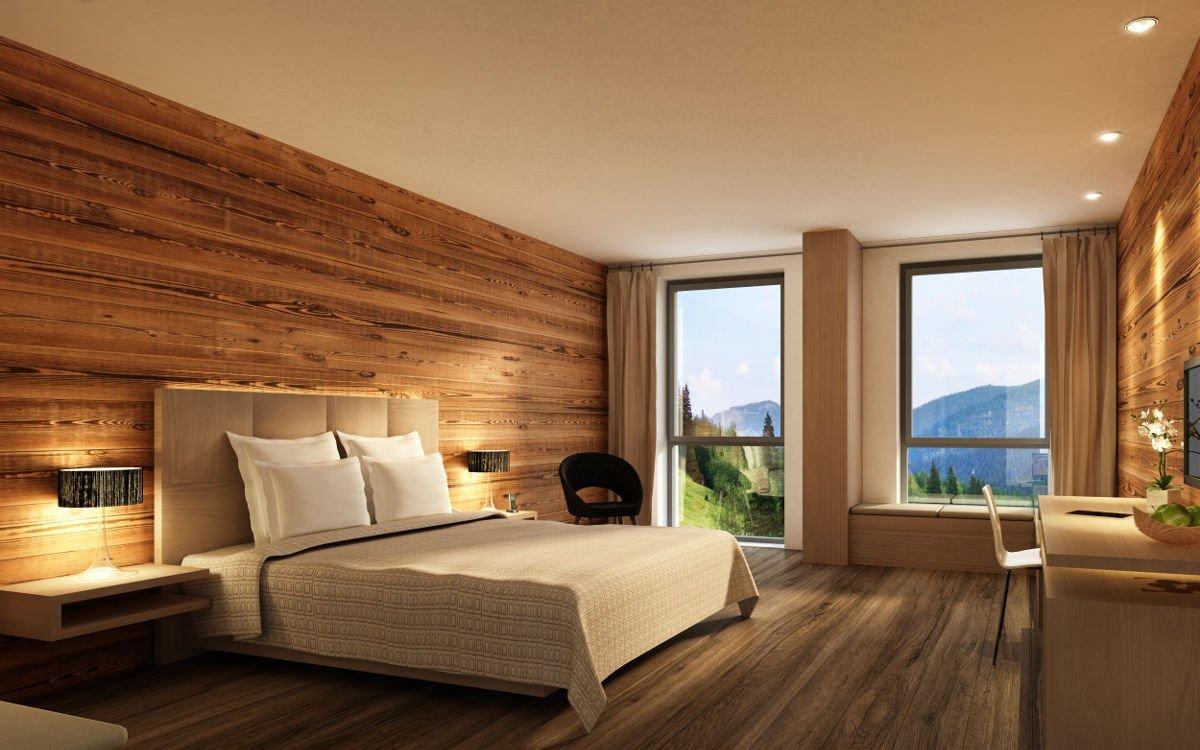 Foto eines Zimmers in einem Tennishotel