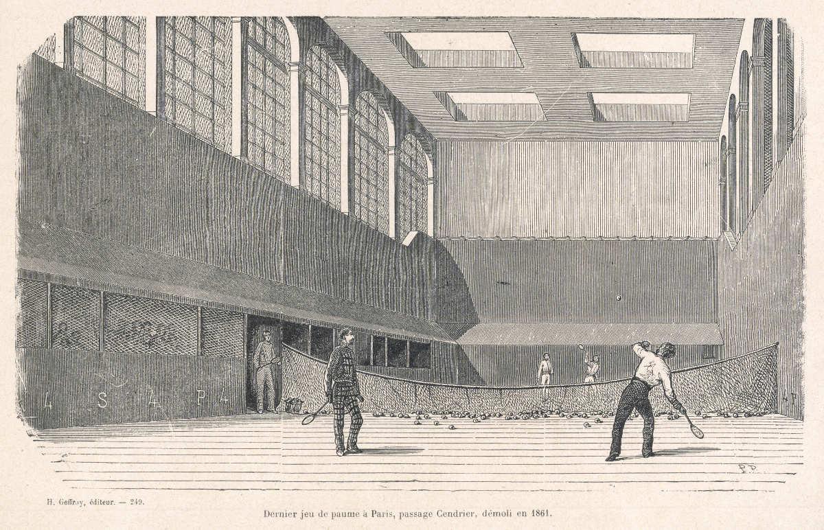 Foto von einem Ballhaus des Jeu de Paume