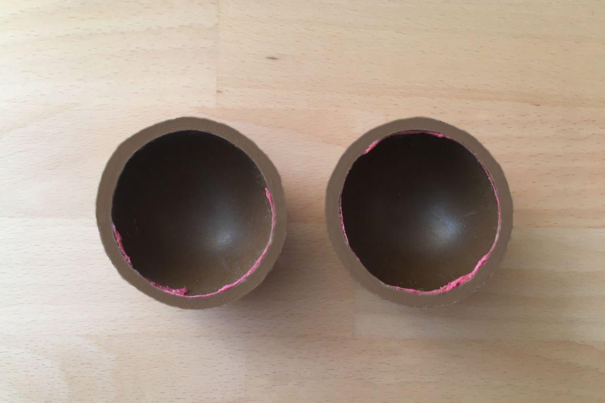 Foto von einem Gummikern eines Tennisballs