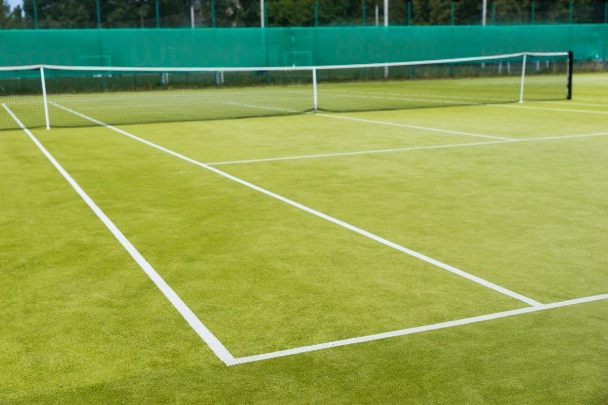 Foto von einem Tennis Rasenplatz