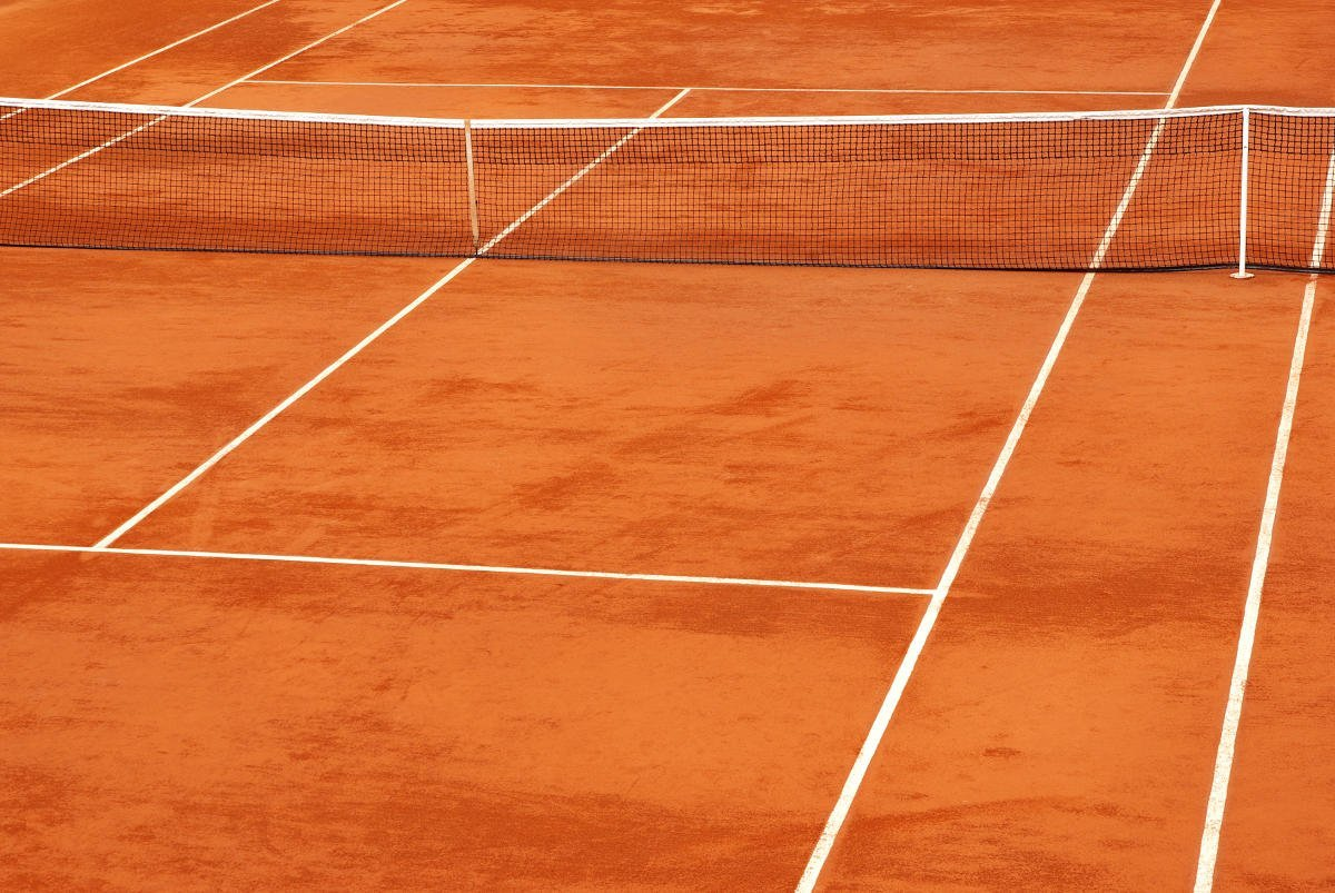 Foto von einem Tennis Sandplatz