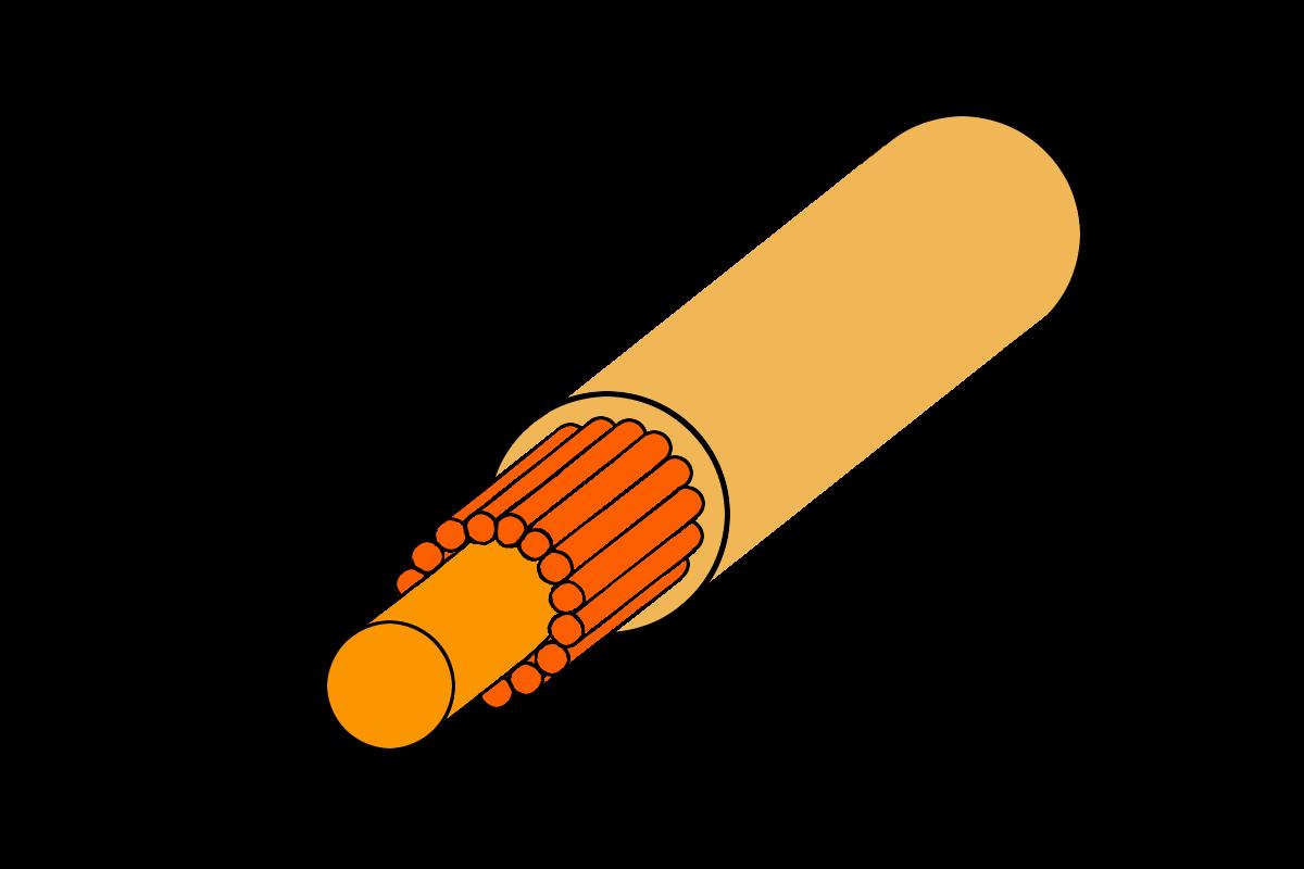 Grafik vom Querschnitt einer Nylon Tennissaite